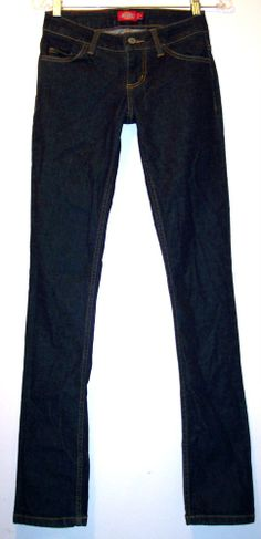 Dickies Jeans 0 Low Rise Dark Wash Skinny Fit Stretch Skater Denim Pants NEW NWT #Dickies #SlimSkinny