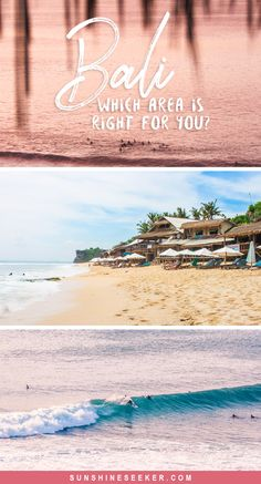 Bali, Indonesia - Overview of the island. Which area should you choose for your holiday? Ubud, Canggu, Seminyak, Uluwatu, Bingin
