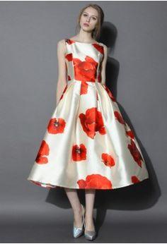 Dreaming of Hana Printed Prom Dress