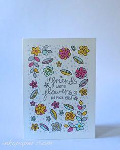Random coloring for handmade cards