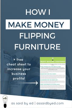 diy, furniture, furniture makeover, make money, side hustle, flipping furniture, entrepreneur tips, business tips, grow your business