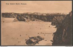 Great Western Beach, Newquay, Cornwall, c.1910 - Postcard