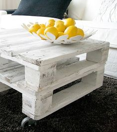 sweet! rustic beach chic! via Little Inspiration Blog ~ #Pallette coffee table