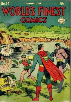 The one where Robin, Superman, and Batman decided they wanted to take a dip with the boys.
