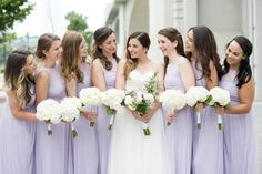 Lovely bridal party in Knoxville, Tennessee.