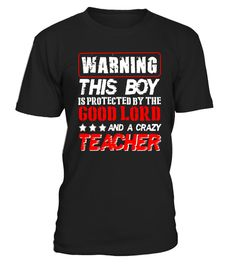 "# Warning This Boy Is Protected By Teacher T Shirt .  Special Offer, not available in shops      Comes in a variety of styles and colours      Buy yours now before it is too late!      Secured payment via Visa / Mastercard / Amex / PayPal      How to place an order            Choose the model from the drop-down menu      Click on ""Buy it now""      Choose the size and the quantity      Add your delivery address and bank details      And that's it!      Tags: funny Teacher t shirt, crazy…"