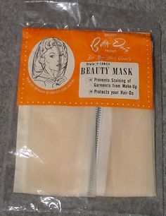 RARE Vintage Betty Dain Beauty Mask for makeup and hair new never opened. $20.00, via Etsy.