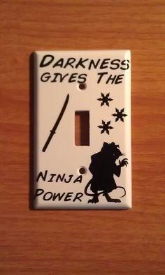Teenage Mutant Ninja Turtle Splinter Light Switch Decal. $2.00, via Etsy. It's so cute. XD