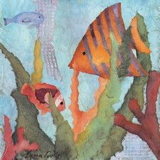 Tropical Fish I by Linn Done 4 Piece Painting Print on Wrapped Canvas Set