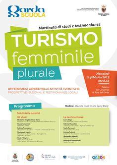"""""""Turismo, femminile plurale"""" - mercoledì 11 febbraio 2015 presso il Palazzo dei Congressi a Riva del Garda @gardaconcierge"""
