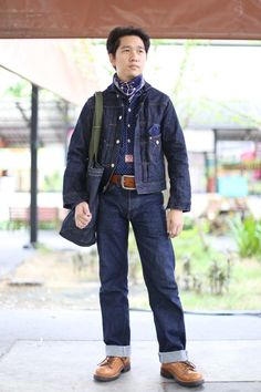 Mister freedom Mister freedom Mister freedom and Mister freedom Denim Fashion, Fashion Outfits, American Casual, Japanese Denim, Denim Style, Denim Outfit, Western Outfits, Gentleman Style, Men Looks