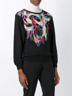 Kansai Yamamoto Vintage detachable sleeves patterned sweater