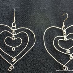 3 Hearts Earrings βημα-βημα