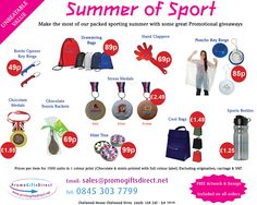 Promotional giveaways for this summers sporting activities: Euro London Olympics, Wimbeldon, British Grand Prix, England vs Australia ODI Cricket. Chocolate Medals, Recruitment Advertising, Promo Gifts, Euro 2012, British Grand Prix, Promotional Giveaways, Hirst, Bottle Bag, Business Gifts