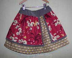 Everyday Chaos: Ta Da! Double layer skirt.http://bridgetbaxter.blogspot.com/2009/04/ta-da-double-layer-skirt.html