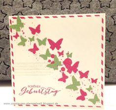 Constanzes Stempelwelt: Schmetterlingsgrüße zum Geburtstag