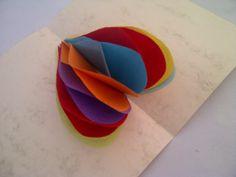 Honeycomb-Herz 3-D Pop-Up Karte. Sehr einfach. Bastelidee zum Muttertag,...