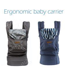 2017 Organik Pamuk Ergonomik Bebek Taşıyıcı, ayarlanabilir Bebek Sling ile Aktivite & Dişli, taşınabilir Çok Fonksiyonlu Çocuk Arabası
