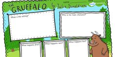 The Gruffalo Book Review Writing Frames -the gruffalo, gruffalo, the gruffalo story review, the gruffalo review, story review, book review, gruffalo review