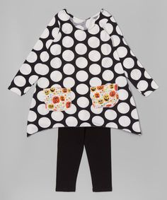 Black & White Pumpkin Tunic & Leggings - Infant, Toddler & Girls