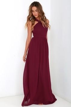 889d73424fdc 17 Best Burgundy maxi dress images