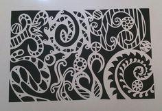 Paper cut doodle. Copyright Rachel Batteson