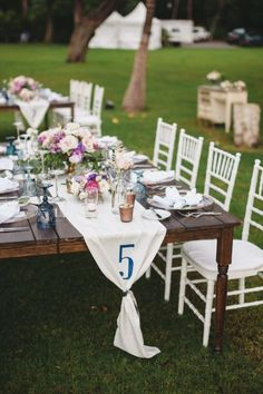 Clever Wedding Table Number Idea