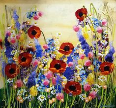 A Burst of Summer - original painting by Rozanne Bell