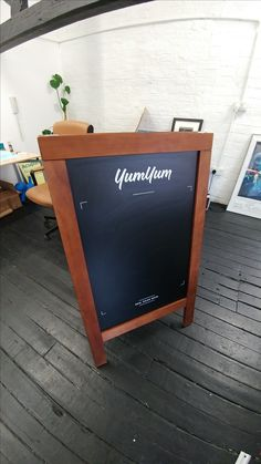 Make a feature of chalk boards with cut vinyl! Popularly used for specials boards!
