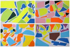 Art With Mr Hall: Abstract Mosaic Collage