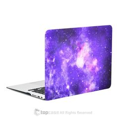 """Purple Galaxy Graphic Rubberized Hard Case for MacBook Air 13"""" Model A1369 and A1466"""