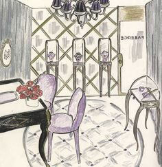 Faberge opens at 694 Madison Avenue, New York May 23rd, 2012. Drawing of the store; love!