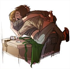 sabriel coffee au - Google Search. Sabriel came out of nowhere and I love it and ship it and don't know why, I just find it awesome.
