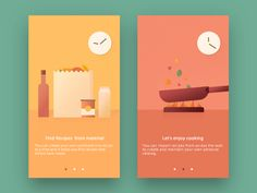 Day 023 - Onboarding by Shunsuke Kawai Web Design, App Ui Design, Mobile App Design, Mobile Ui, Design Ideas, Graphic Design, App Wireframe, Brochure Folds, Splash Screen