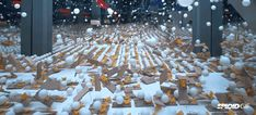 Pepsi celebrated the New Year with a cool visual experiment: They put thousands of ping pong balls on mousetraps, then they actioned one of the traps making the ball fall on the others triggering an epic chain reaction .