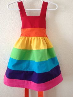Rainbow dressbrightParty dressDressbirthday by StitchItUpBoutique, $47.00