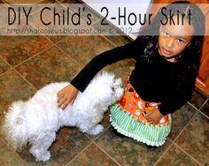 Sharon Sews: DIY: Child's 2-hour skirt sewing tutorial