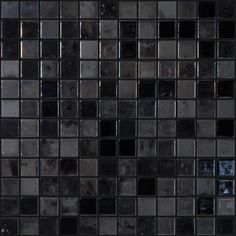 Shop Elida Ceramica 12-in x 12-in Dark Reflections Glass Mosaic Uniform Squares Wall Tile (Actuals 12-1/2-in x 12-1/2-in) at Lowes.com