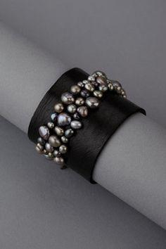 Пресноводные перлы Строк на широкий кожаный