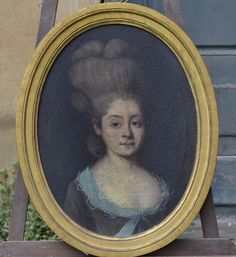 Portrait of a young woman, 18th century, French school