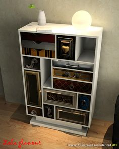 #intericad #furniture #3d Really nice 3D bookcases made by Lola Glamour