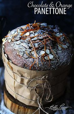 Easy Panettone Recipe - super classic and super delicious holiday sweet bread that has fresh orange and chocolate chips in it! By Billy Parisi Easy Panettone Recipe, Panettone Bread, Christmas Desserts, Christmas Baking, Fun Desserts, Italian Desserts, Gourmet Recipes, Cake Recipes, Sweets Recipes