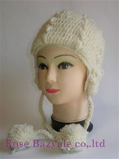 Woolen Animal Hand Made Knitt Hat White!