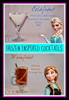 Disney Sisters: Disney Cocktails: Elsa and Anna FROZEN Inspired Drinks
