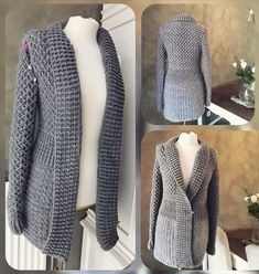 Crochet Jacket Pattern, Crochet Coat, Crochet Shawl, Crochet Clothes, Popular Crochet, Sweaters For Women, Knitting, Youtube, Diy Crafts