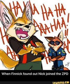 When Finnick found out Nick joined the ZPD