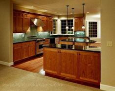 cherry kitchen cabinets oak floors