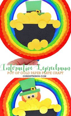 Our Interactive Pop Out Leprechaun Craft is all the fun aspects of the magic of St. Patrick's Day in one craft! With a free Leprechaun Template printable! Cute Kids Crafts, Holiday Crafts For Kids, Crafts For Kids To Make, Craft Stick Crafts, Toddler Crafts, Art For Kids, Craft Ideas, St Patricks Day Crafts For Kids, St Patrick's Day Crafts