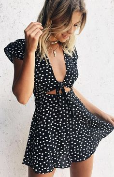 Thinking About You Dress Polka – Beginning Boutique Cute Summer Outfits, Cute Casual Outfits, Casual Dresses, Summer Dresses, Looks Adidas, Cute Dresses, Short Dresses, Wrap Dresses, Linen Dresses