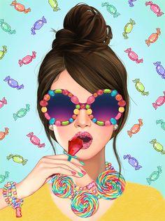 37 Ideas Birthday Card For Girls Vintage Art Anime Fille, Anime Art Girl, Illustration Pop Art, Art Mignon, Pop Art Girl, Cartoon Art, Cute Drawings, Cute Art, Female Art